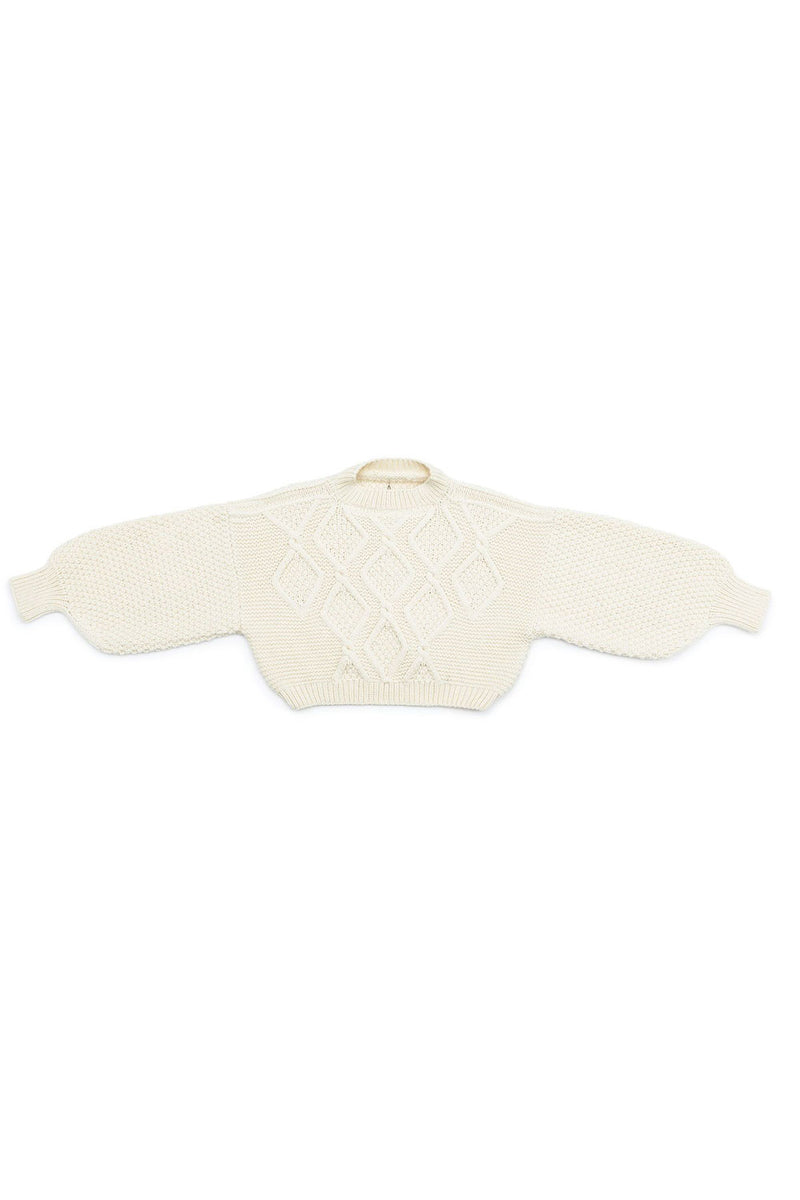 Diamond Crew Neck Jumper (Hand Knitted)
