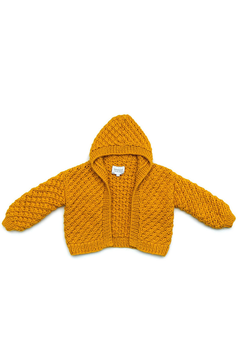 Daisy Hooded Bomber (Hand Knitted)