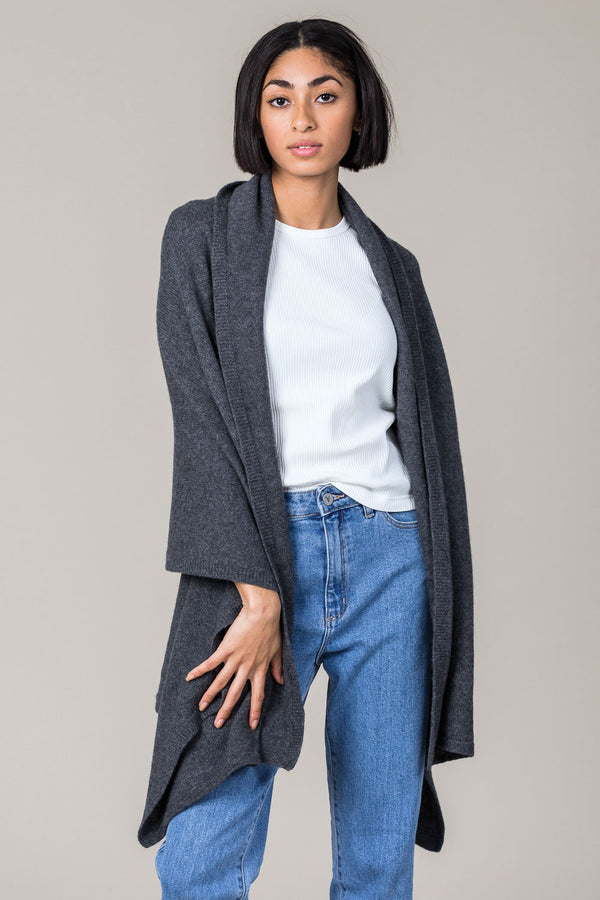 Cashmere Travel Wrap in Derby Grey