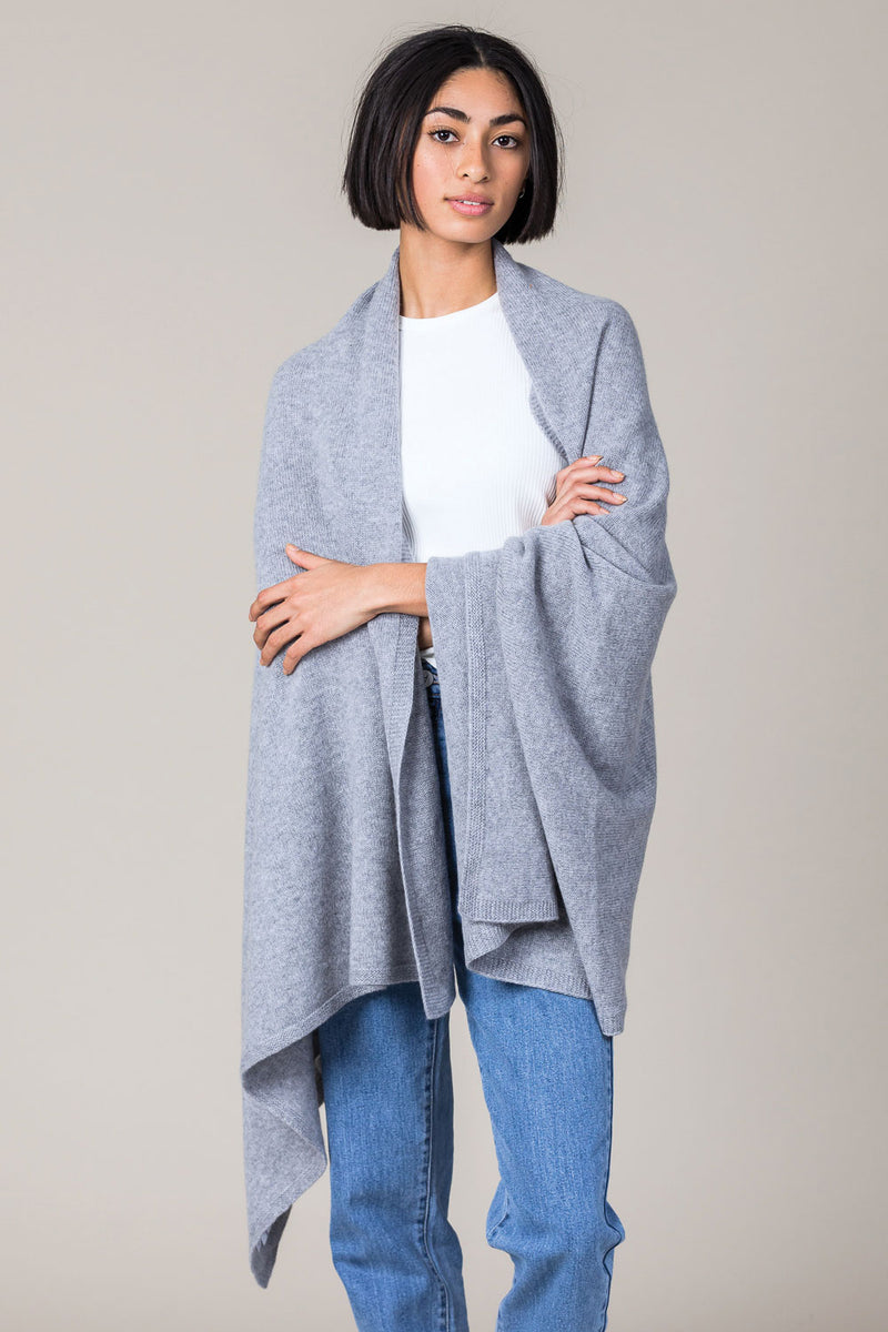 Cashmere Travel Wrap in Felt Grey