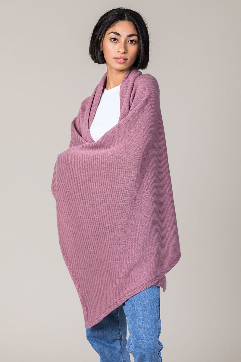 Cashmere Travel Wrap in Shawl Pink