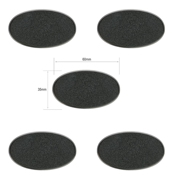 Citadel 60x35mm Oval Bases (5 pack)