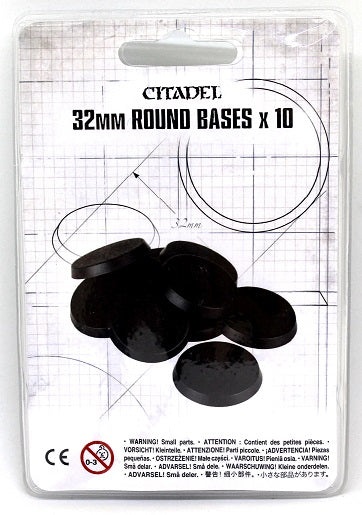 Citadel 32mm Round Bases (10 pack)