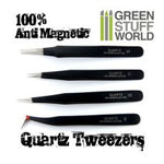 Anti-magnetic Quartz Tweezers set