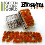 Blossom TUFTS - 6mm self-adhesive - ORANGE Flowers