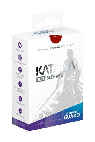 Katana Sleeves Standard Size Red (100)
