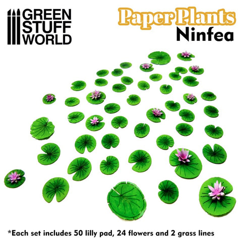 Paper Plants - Lilly Pads/Ninfea
