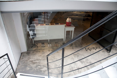 PPAPER shop staircase to B1 entrance