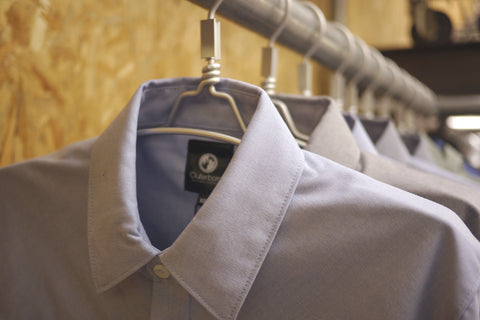 nabiis store display of Outerboro shirts close up