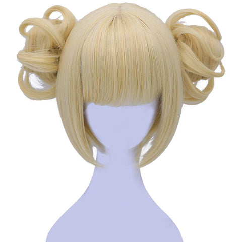 Morvally Short Blonde Himiko Toga Cosplay Wigs for Women Girls Kids