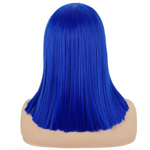 Morvally Short Straight Bob Wig Heat Resistant Hair with Blunt Bangs Natural Looking Cosplay Costume Daily Wigs (14
