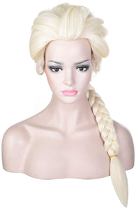 Morvally Women Blonde Braided Pigtail Wig for Elsa Cosplay Costume Halloween