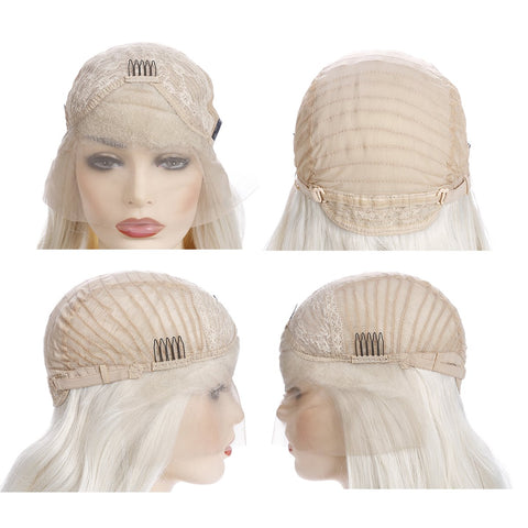 Morvally 613# Blonde Long Straight Lace Front Wigs for Women
