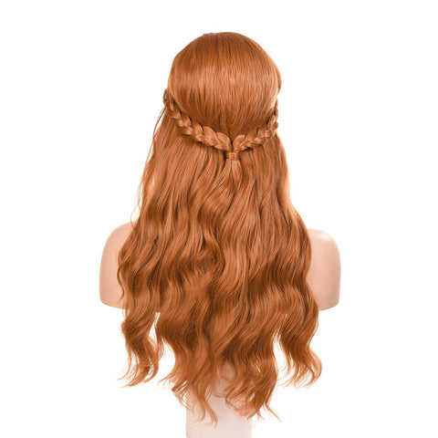 Morvally Womens Frozen 2 Anna Princess Cosplay Wigs