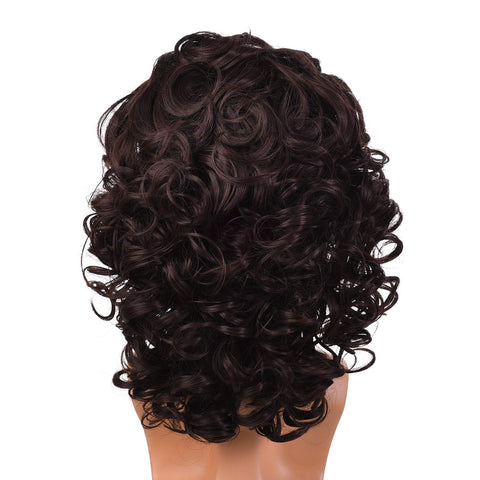 Morvally Mens 80s Style Short Messy Curly Dark Brown Wigs for Halloween, Costume, DIY Themed Cosplay Party