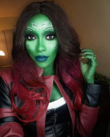 Morvally Women Girls Gamora Cosplay Wigs