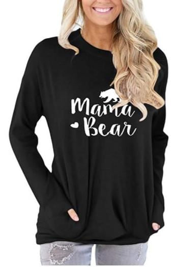 Long Sleeve Letter Print Casual T-Shirt