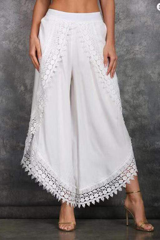 Lace Beach Slight Summer Loose Wide leg Trousers