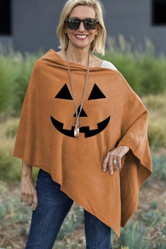 Halloween Printed Casual shawl 3 Colors