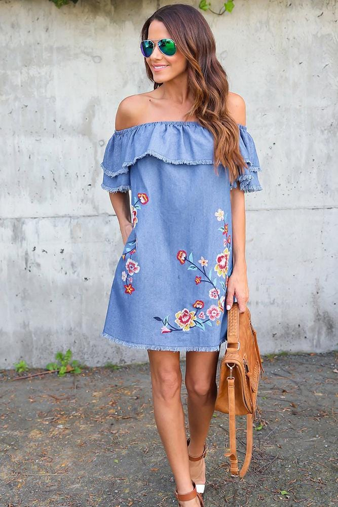 Fashion Off-Shoulder Casual Dress