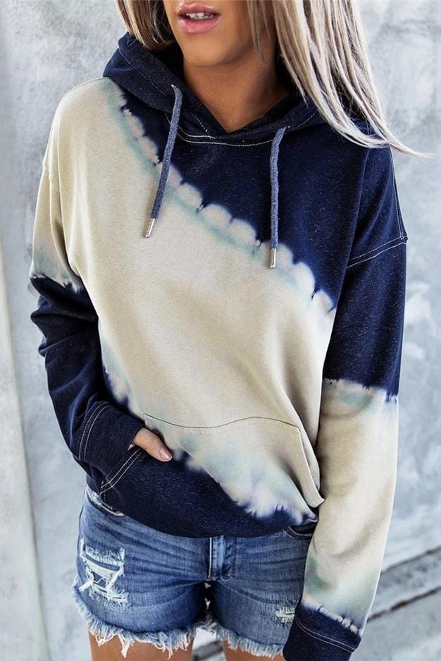 Tie Dye Long Sleeves Casual Hoodie