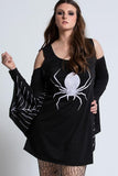 Halloween Dress Batwing Spider Printed Cosplay Dress
