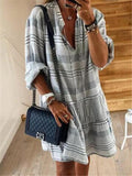 Fashion V Neck Short Casual Dresses Plus Size