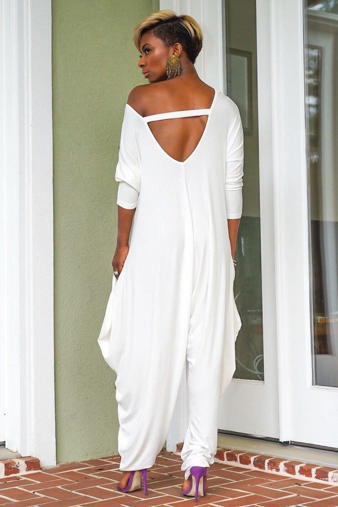 Fashion Full Sleeve Off shoulder Women Loose Jumpsuit Plus Size