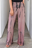 Herstrendy High-Waist Printed Wide-Leg Pants