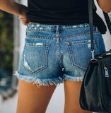 Casual Denim Cutoff Jeans Shorts