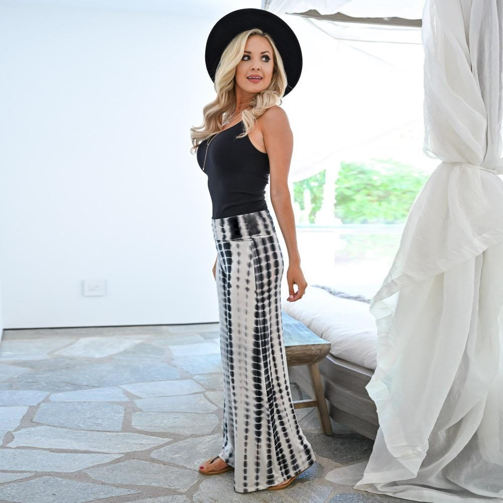 Herstrendy Loose High-Waist Printed Wide-Leg Pants