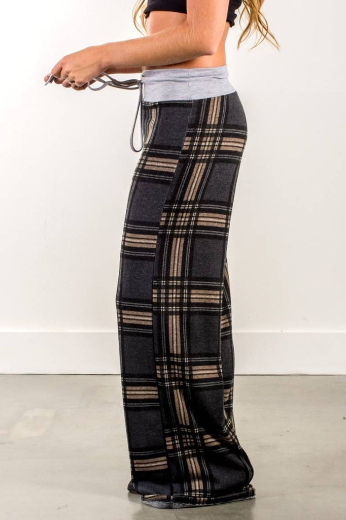 Tartan Casual Loose Pants 3 Colors