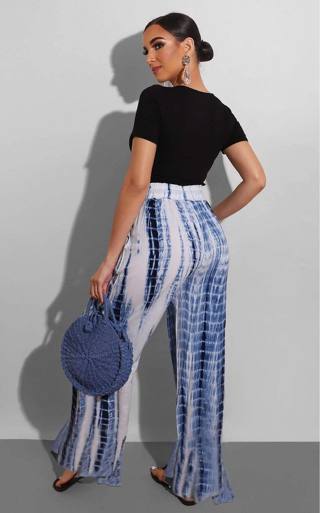 Tie Dye Wide Leg Casual Loose Colourful Pants