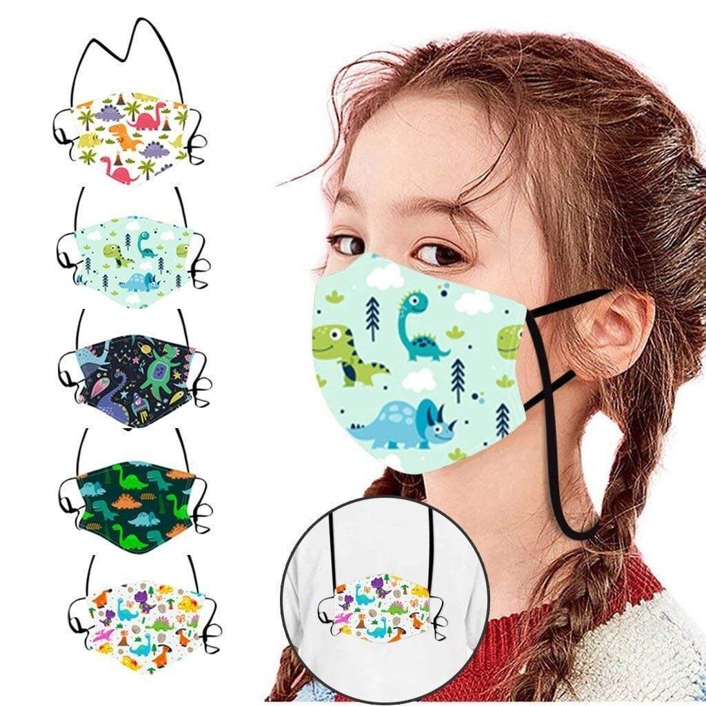 CARTOONS KIDS BREATHABLE MOUTH MASK REUSABLE