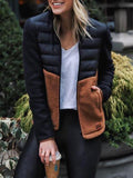 PATCHWORK CONTRAST COLOR DOWN JACKET