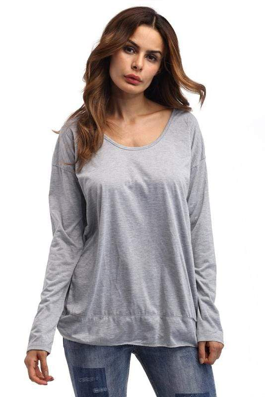 Long Sleeves Backless Casual Sweatshirt