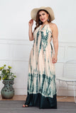 Off-Shoulder Tie Dye Backless Maxi Dress Plus Size