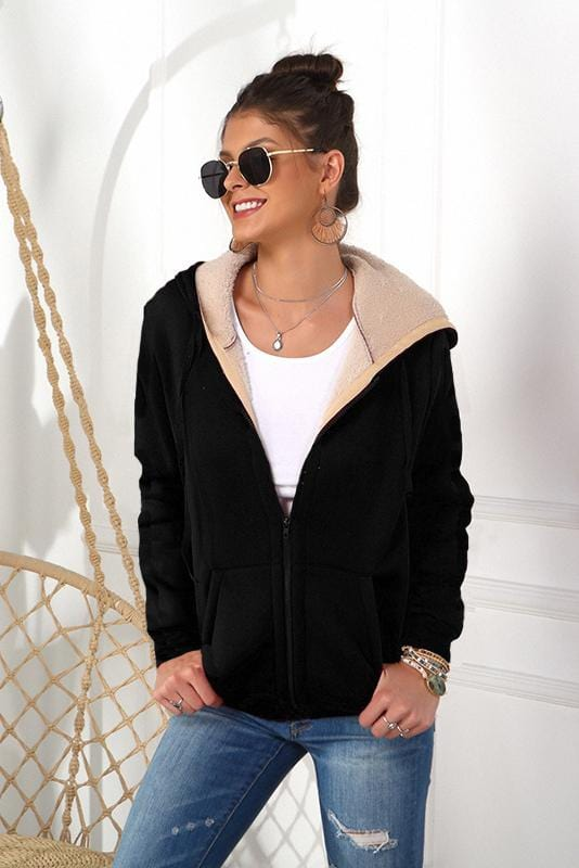 Hooded Zipper Strappy Front Crop Coat 3 Colors
