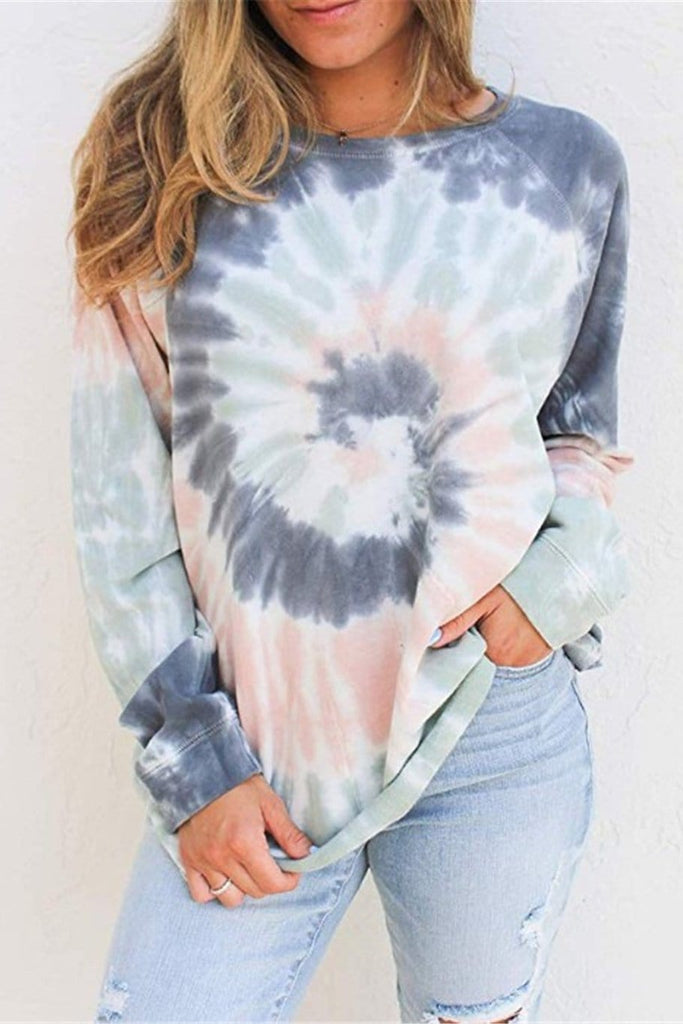 Latest Tie Dye Long Sleeve Casual Tee