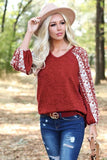 Floral Print Sleeves Casual Tee 4 Colors