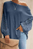 One Shoulder Long Sleeve Casual Tee 4 Colors