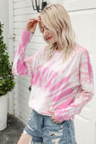 Tie Dye Crew Neck Long Sleeve Tee 3 Colors