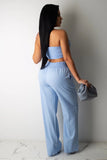 Sexy Off-Shoulder Sport Casual Two-Piece Set Three Colors