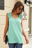 V-Neck Sleeveless Plain Top