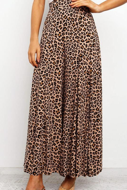Leopard Print Loose Long Pants