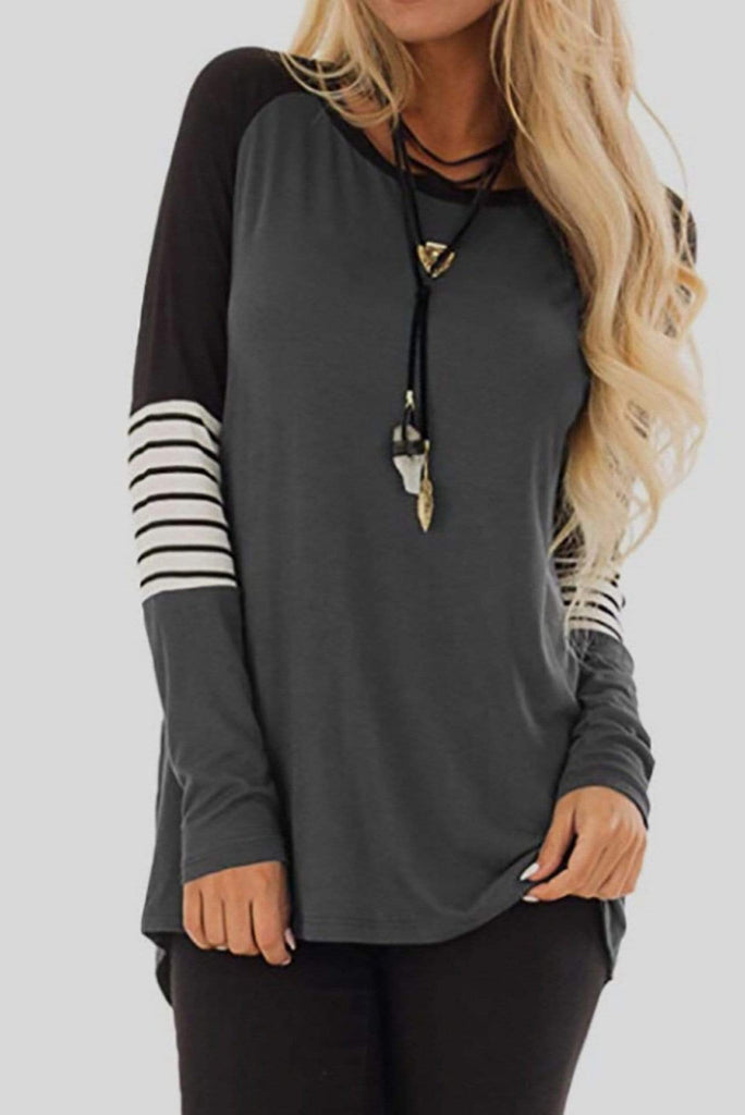 Plus Size Long Sleeves Casual Tee 6 Colors