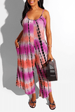 Summer Latest Casual Tie Dye Jumpsuit 3 Colors