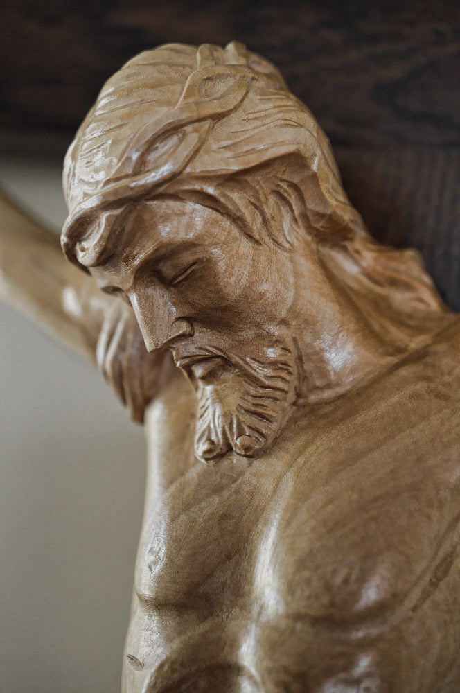 Detailed Chapel Crucifix Head of Christ