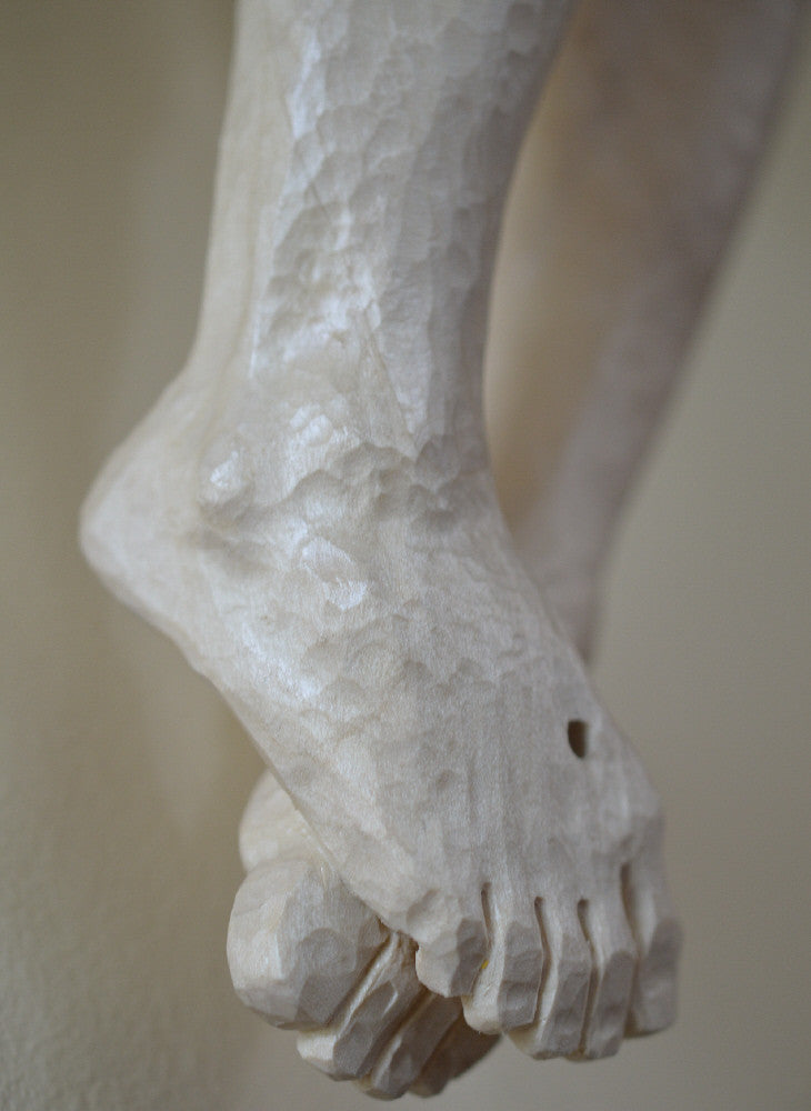 Hand Carved Detail of Corpus Feet