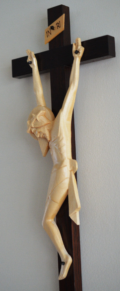 Profile View of Wedding Crucifix
